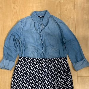 Uniqlo chambray blouse